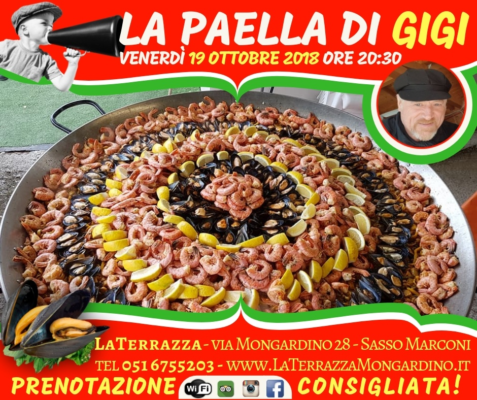 Paella Mongardino La Terrazza
